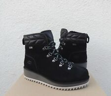 UGG Birch Lace-up Boot Black Winter Woman's Snow BOOTS 1095712 Size 11