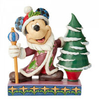 Disney Traditions Mickey Mouse Father Christmas Figurine- 2019 Release New Boxed