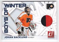 2010-11 Donruss Boys of Winter Threads Prime #33 Johan Backlund Jersey #42/75