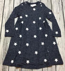 Baby Gap Girls 5 / 5T Blue & White Star Flowing Dress. Nwt