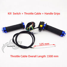 Throttle Kill Switch Handle Grips Cable For 50cc 60cc 80cc Push Bike Motorized