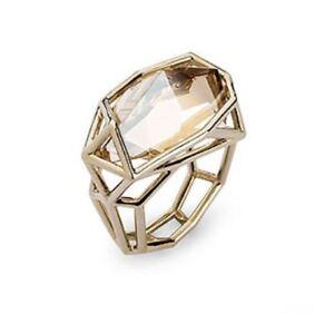 NIB $249 Atelier Swarovski by Fredrikson Stallard Armory Small Ring Golden 52 58