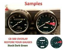 Honda CB500 Overlay Cafe Racer Gauge Face Decal Applique MPH Green Dial Clock 71