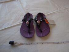 Girl's relaxed fit Aliana crocs RARE purple black dahlia C 10 flip flops sandals