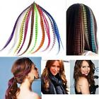 """50pcs Grizzly synthetic Feather hair Extensions 16"""" with 50 beads for free CC"""