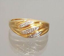 Ring mit Brillanten 0,05 ct. 8K 333er Gelbgold Gr.: 54 -tolles Design -