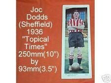 #D80.  1936 SOCCER  FOOTBALL CARD - SHEFFIELD UNITED, JOCK DODDS