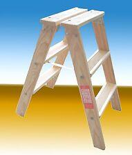 Holzleiter mit 2 X 7 Stufen Treppenleiter Tritt