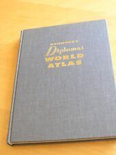 Large Hammond's Diplomat World Atlas 1963 2nd Printing Hard Cover Grey Cloth
