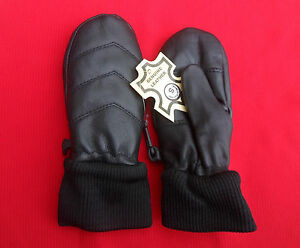 Kids Leather Soft Winter Baby Mitten Gloves Small Medium Large & X Large Black