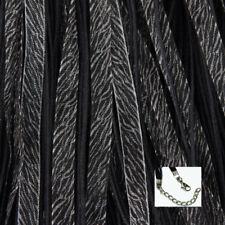 100 QTY - ZEBRA ORGANZA RIBBON NECKLACE 18-20 Inch Animal Cord Clasp Jewelry