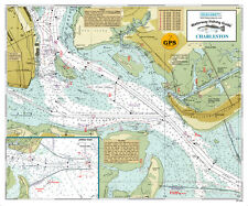 Sealake South Carolina Charleston Fishing Map Chart Print