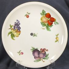 Wedgwood Fruit Sprays Croft Dinner Plates Rim Shape England (Q2)
