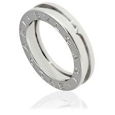Bvlgari B.Zero1 18K White Gold 1-Band Ring Size 5