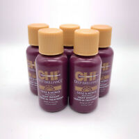 (5) Chi Deep Brilliance Olive & Monoi Light Weight Leave In Treatment 0.5oz Lot