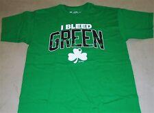 NEW Sullys Boston Celtics I Bleed Green Shamrock Themed T Shirt Mens Medium