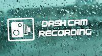 4x Dash Cam Recording CCTV Warning Car Sticker vinyl Laptop Bumper window JDM