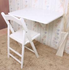 SoBuy Table d'enfant,Table de cuisine,Table murale pliable bois 75x60,FWT01-W FR