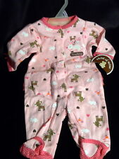 Child of Mine by Carters  Footed Pajamas Girls Newborn