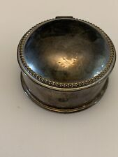 Vintage Silver Plated ring box
