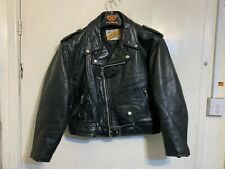 VINTAGE 80'S PERFECTO BY SCHOTT LEATHER BRANDO MOTORCYCLE RACING JACKET SIZE S