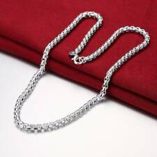 Fashion 925 Silver plated Men Jewelry 20inch Chain Necklace For Women N053