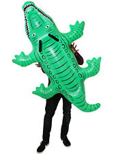 GIANT 152CM INFLATABLE CROCODILE NOVELTY SUMMER PARTY DECORATION POOL FLOAT