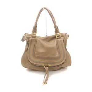Chloe Hand Bag  Light Brown Leather 2402250