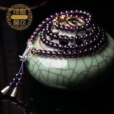 Purple crystal 108 Beads buddha bead Multilayer Bracelet Prayer Beads  ZS002