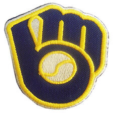 New MLB Milwaukee Brewers logo embroidered iron on patch. 2.5 x 2.5 inch (IB15)