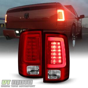 Brightest Red V2 NEW 2009-2018 Dodge Ram 1500 Pickup LED Tube Tail Lights Lamps