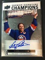 2017-18 UD Premier Signature Champions Denis Potvin New York Islanders Auto