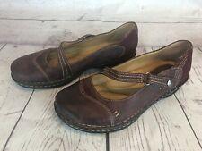 KALSO Earth Shoe ALDER Merlot Women Size 9 B MARY JANE Leather Comfort Flats 55j