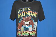 vintage 80s IT'S BEEN MONDAY ALL WEEK LONG SICK FUNNY BEAR WORK t-shirt LARGE L
