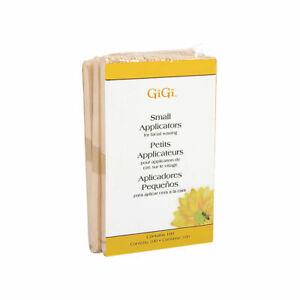 GiGi Small Applicators for Facial Waxing 100 Sticks Brand New