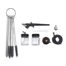 Spray Paint Gun Airbrush Kit And Cleaning Remove Needles Brush Tools