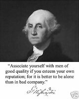 President George Washington Quote 8 x 10 Photo Picture # bwh1
