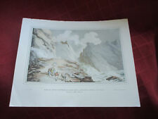 vintage print of thomas rowlandson shipwreck at tintagel