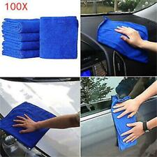 100Pcs Microfiber Washcloth Auto Car Care Cleaning Towels Soft Cloths Tool EN