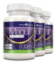 Maqui Berry Antioxidante 500mg 270 cápsulas Evolution Slimming pérdida de peso