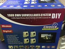 """Astrotel Digital Wireless 4 Camera Home/Mobile Surveillance System 7""""LCD Monitor"""
