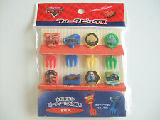 Disney Cars Food Fork Picks Japanese Bento Accessories/8pcs
