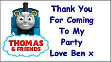 Thomas The Tank Engine Personalised Thank You Stickers Seals x 48