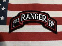 US ARMY 1ST RANGER BATTALION COLOR SCROLL C/E
