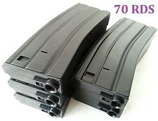 E&C 5 Pcs 70 Rounds 6mm Pellets Mag For Airsoft M Series Black (EC-MA002A)