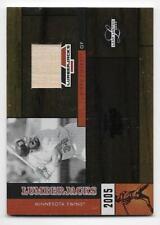 Kirby Puckett 2005 Leaf Limited Lumberjacks Bat #d /50 Rare
