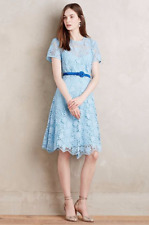 NWT Anthropologie Kate Sylvester - New Zealand - Castine Dress Blue Lace $268 6P