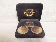 Chipper Jones Alex Rodriguez Derek Jeter Highland Mint Bronze 3 Coin Set 0265