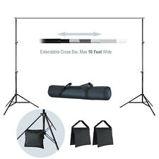 LS Photography Backdrop Muslin Support Stand and Cross Bar Kit with Sand Bag