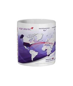 Personalised Virgin Atlantic World Route Map Tea / Coffee Mug